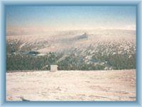 Widok z Pradziadu na Owczarnę w zimie