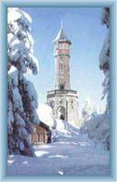 Wieża widokowa w zimie