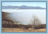 Widok z Rychorskiego grzbietu na Karkonosze