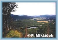 Widok na gminę Chrzibsko i Chrzibską zaporę wodną