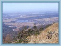 Widok z wieży widokowej na Jedlowej